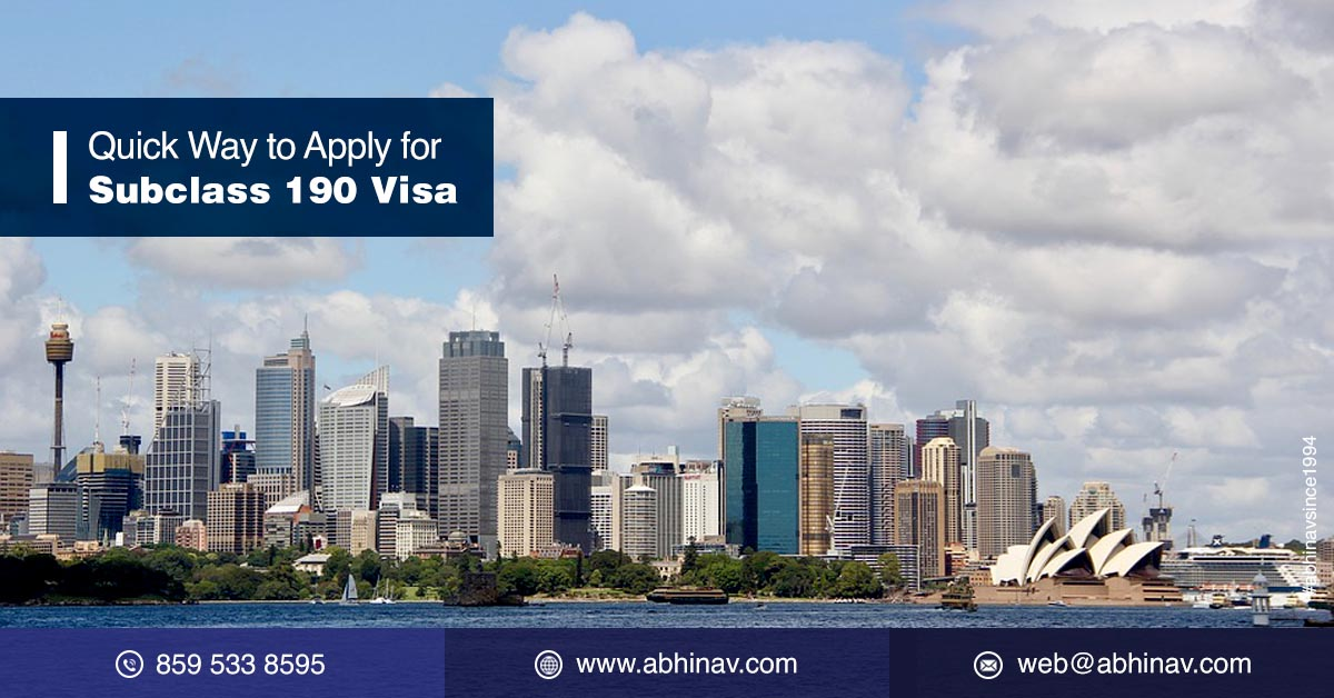 Skilled Nominated Visa Subclass 190 | 190 Visa Australia