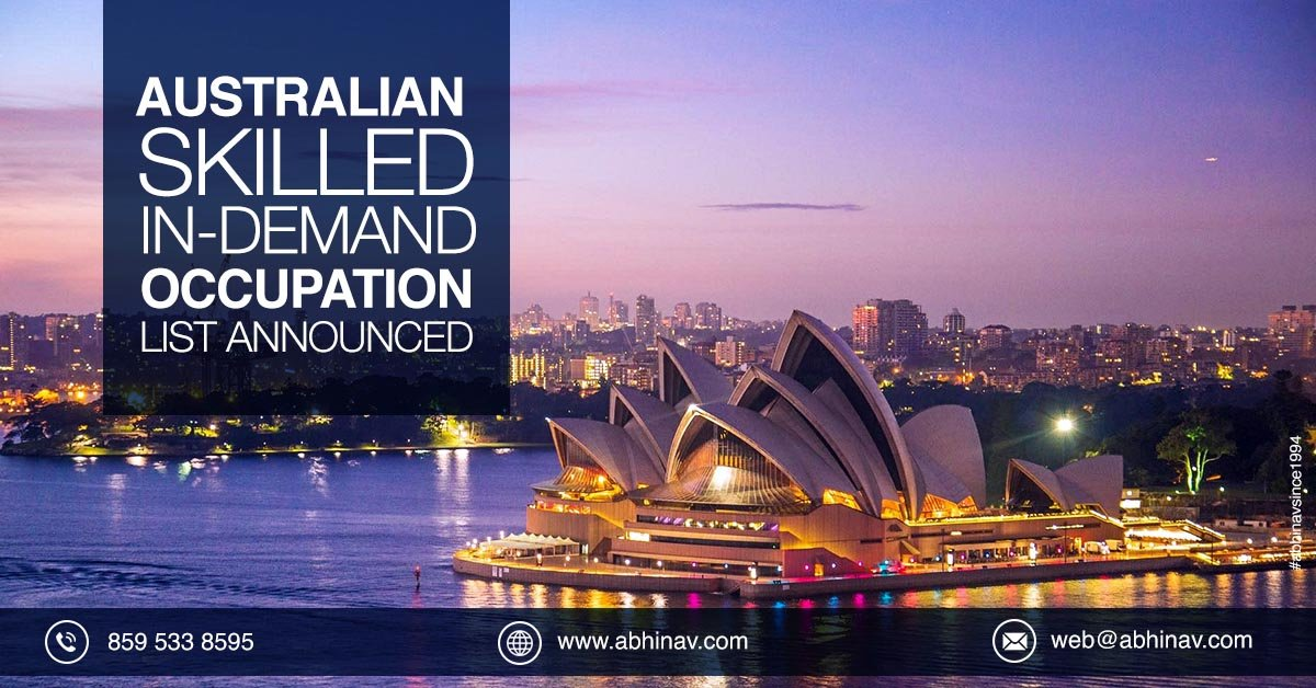 Skilled Occupation List Australia 2019 | SOL List Australia